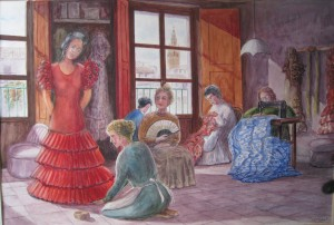 taller-de-flamenca-acuarela-Fermin-Hache