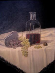 uvas-y-vino-oleo-Fermin-Hache