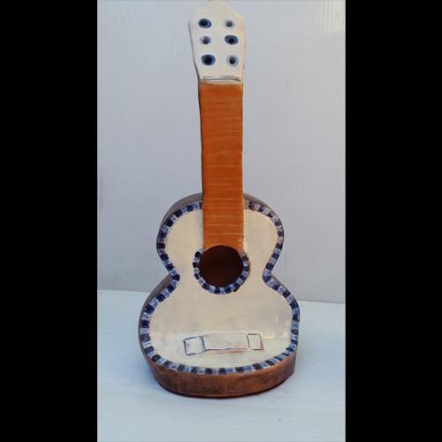 Guitarra azul Fermín Hache cerámica