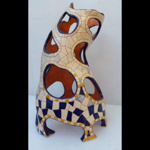 Jarrón azul Fermín Hache cerámica
