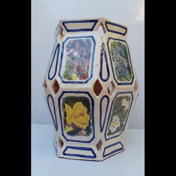 Jarrón hexagonal Fermín Hache cerámica