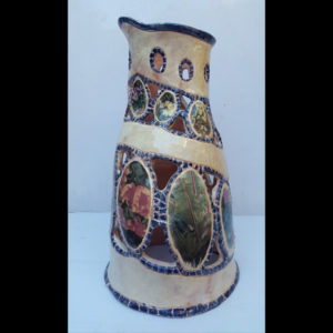 Jarrón flores Fermín Hache cerámica